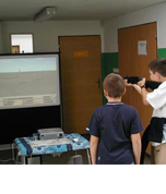 Projection laser shooting range -